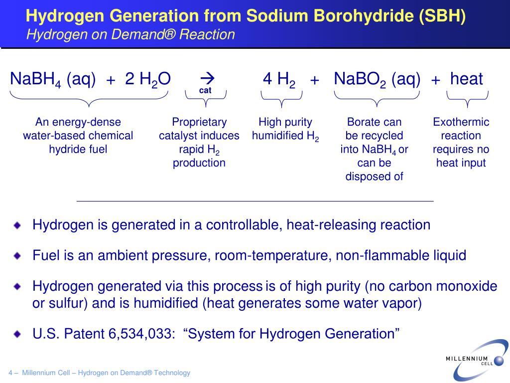 Hydrogen Generation from Sodium Borohydride (SBH)