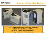 industry first 30w system