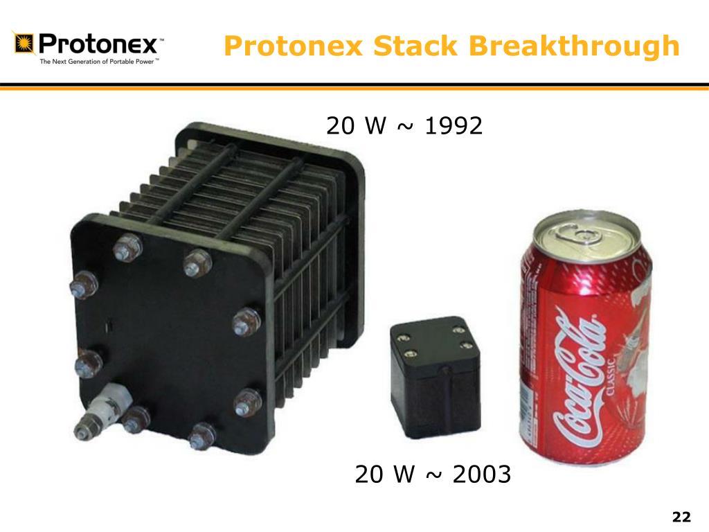 Protonex Stack Breakthrough