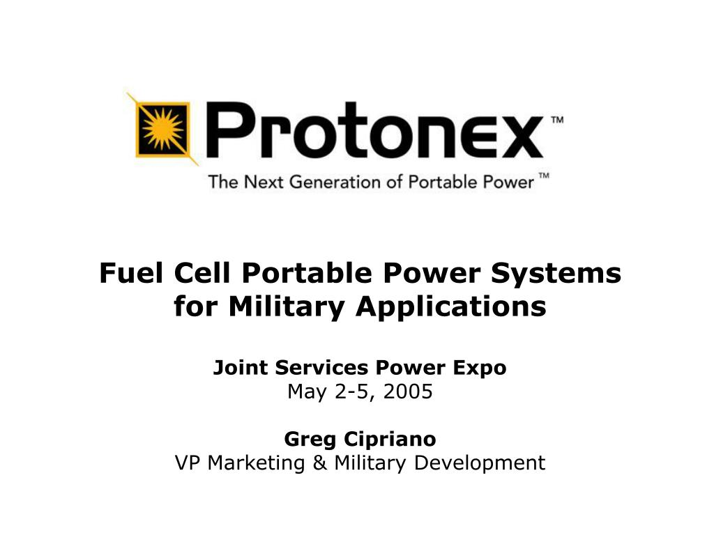 Fuel Cell Portable Power Systems