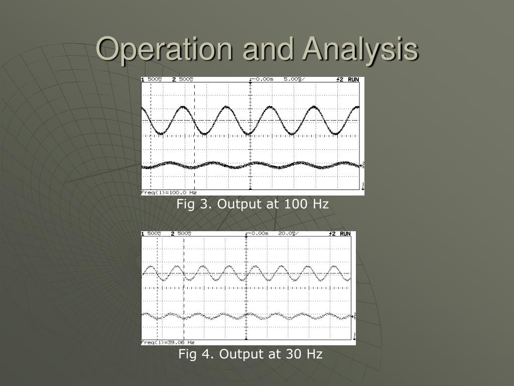 Operation and Analysis