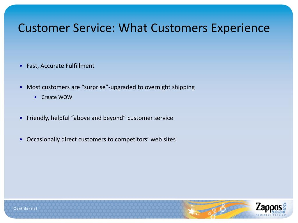 Customer Service: What Customers Experience