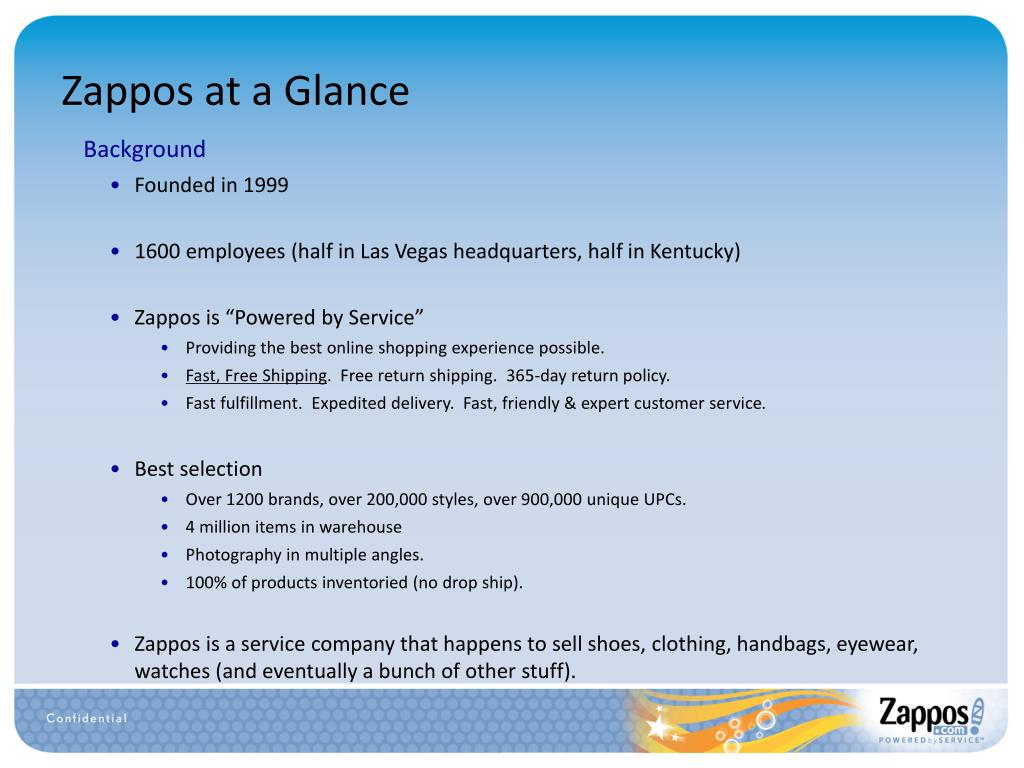 Zappos at a Glance
