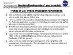 trends in cell phone processor performance