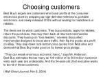 choosing customers