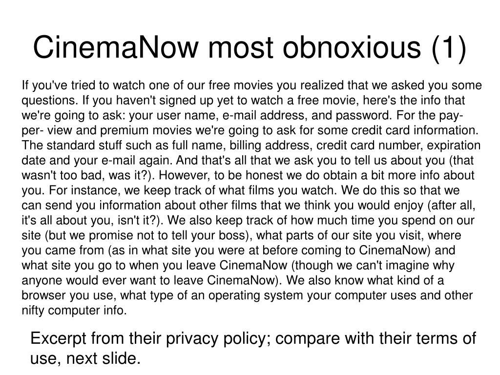 CinemaNow most obnoxious (1)
