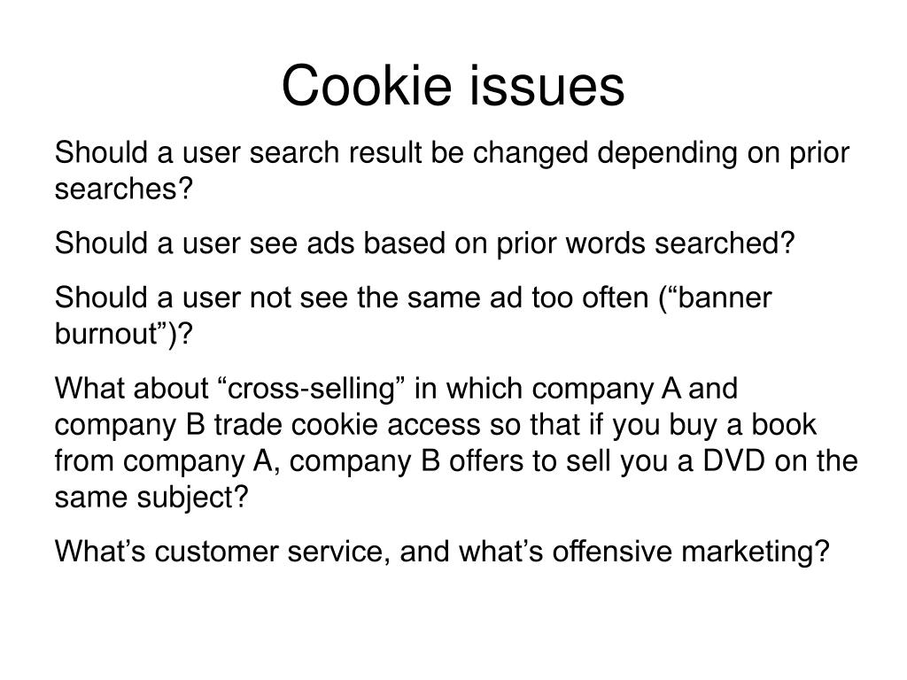Cookie issues