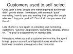 customers used to self select