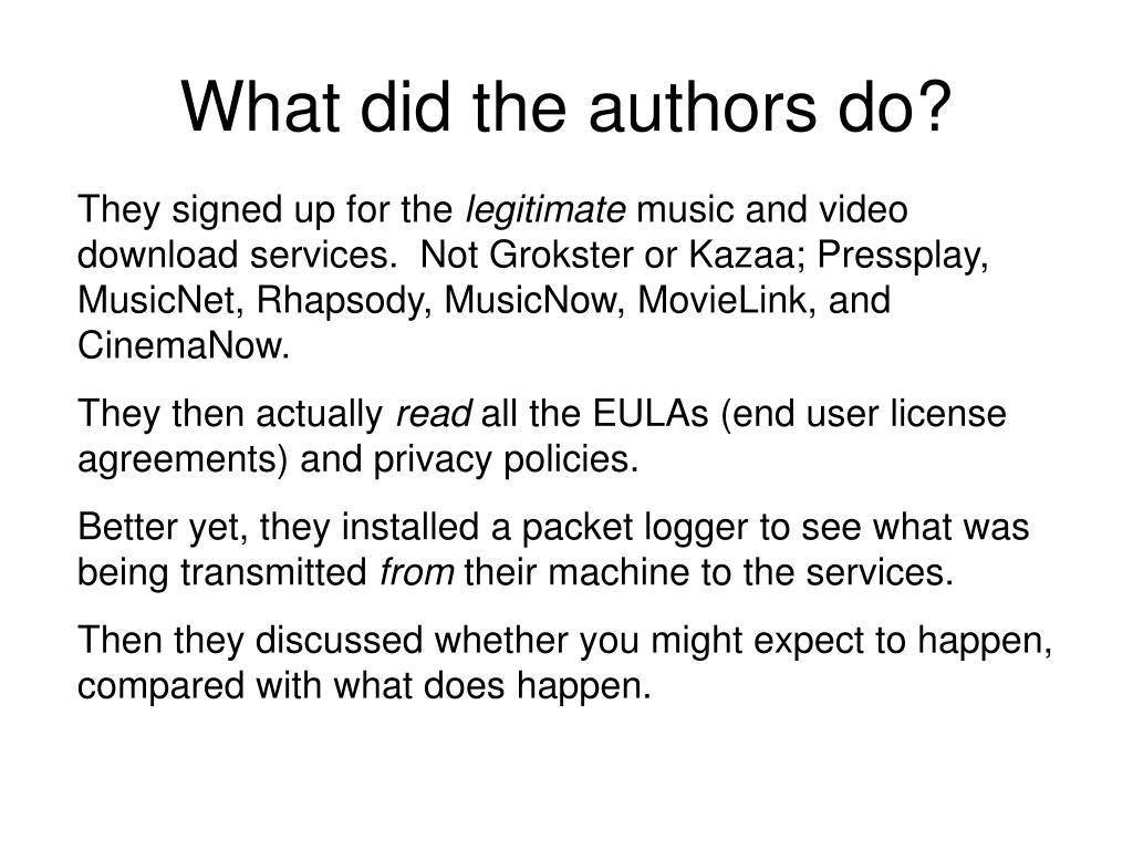 What did the authors do?