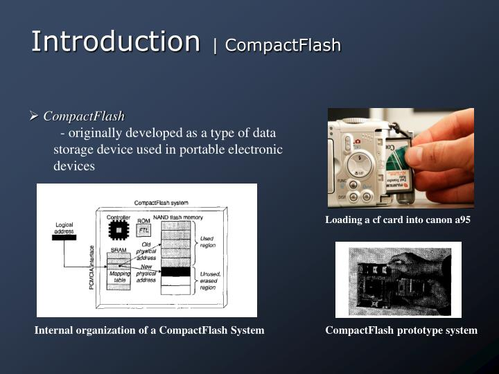 Introduction compactflash