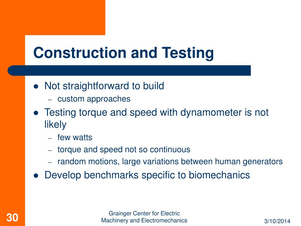 Construction and Testing