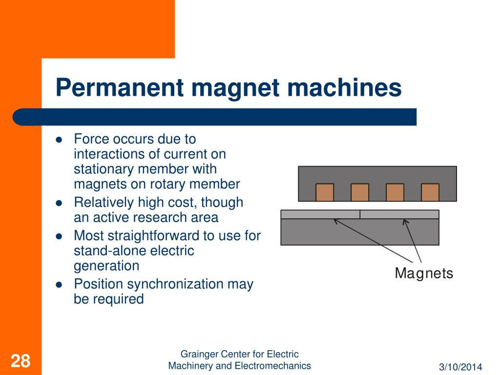 Permanent magnet machines