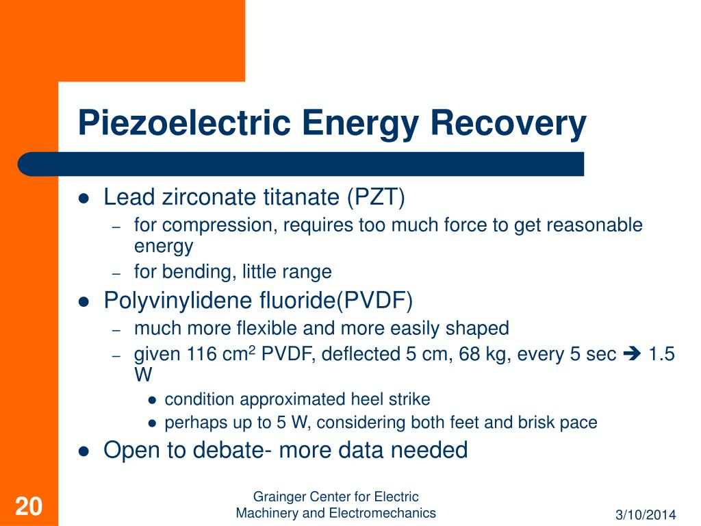 Piezoelectric Energy Recovery