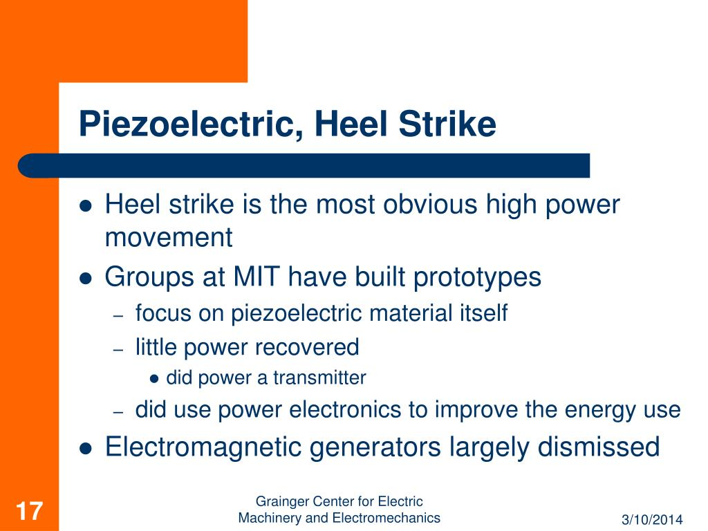 Piezoelectric, Heel Strike