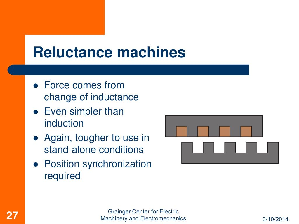 Reluctance machines