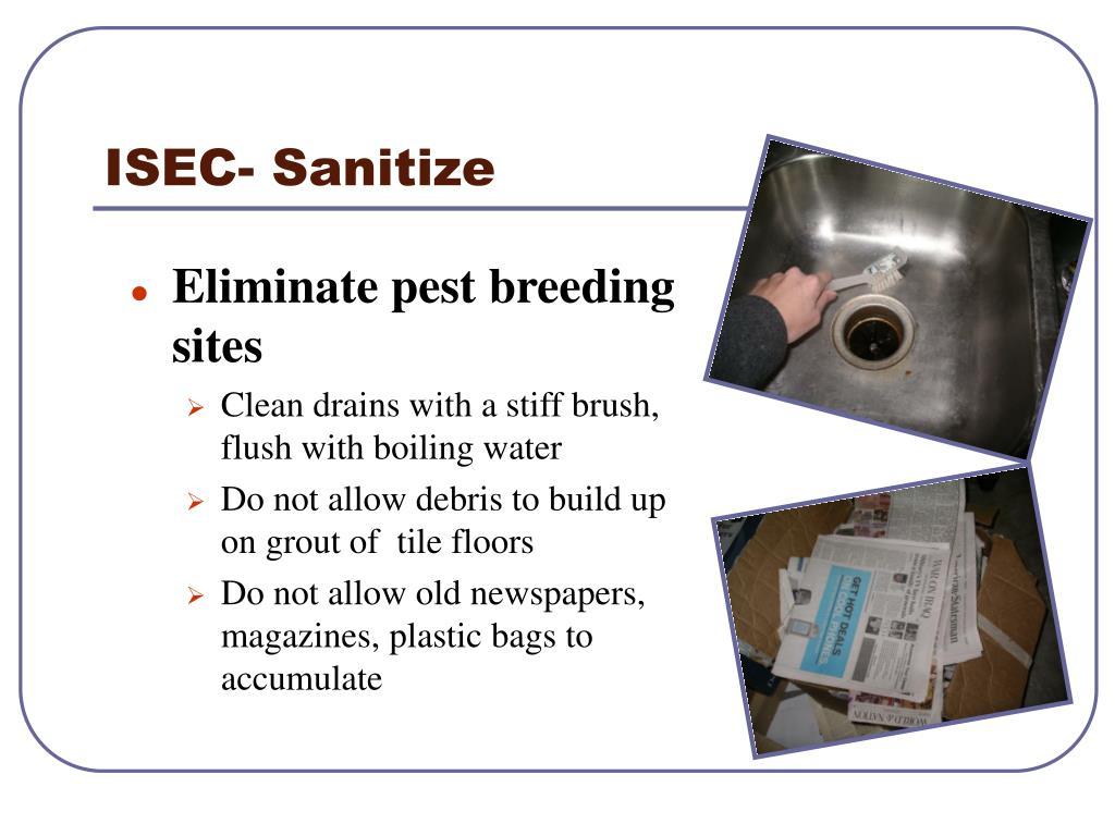 ISEC- Sanitize