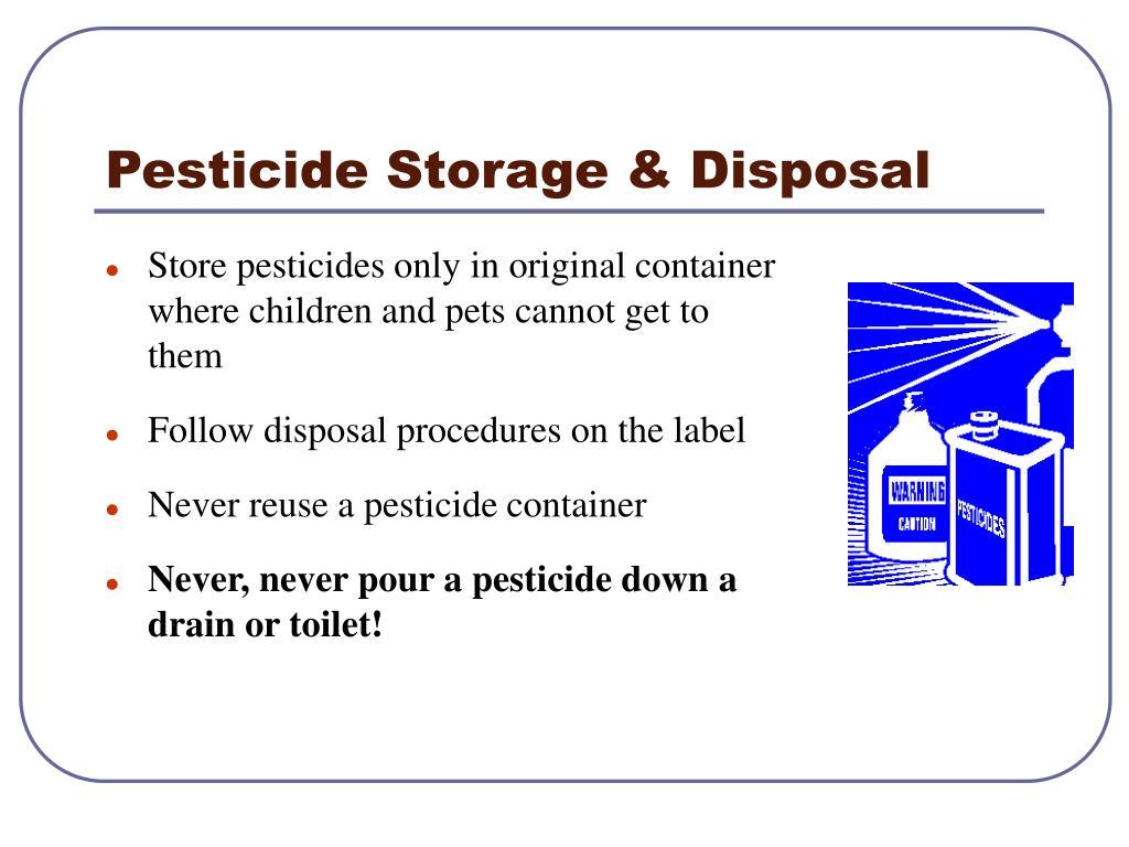 Pesticide Storage & Disposal