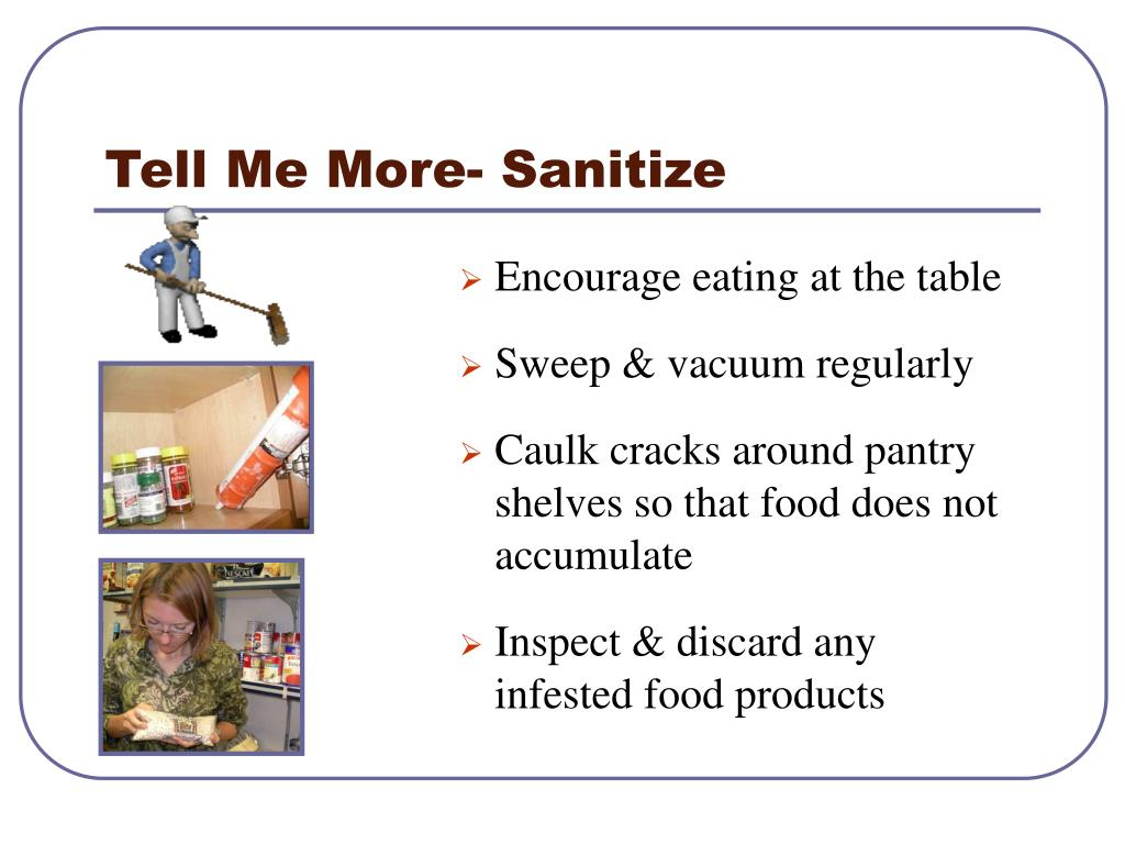 Tell Me More- Sanitize