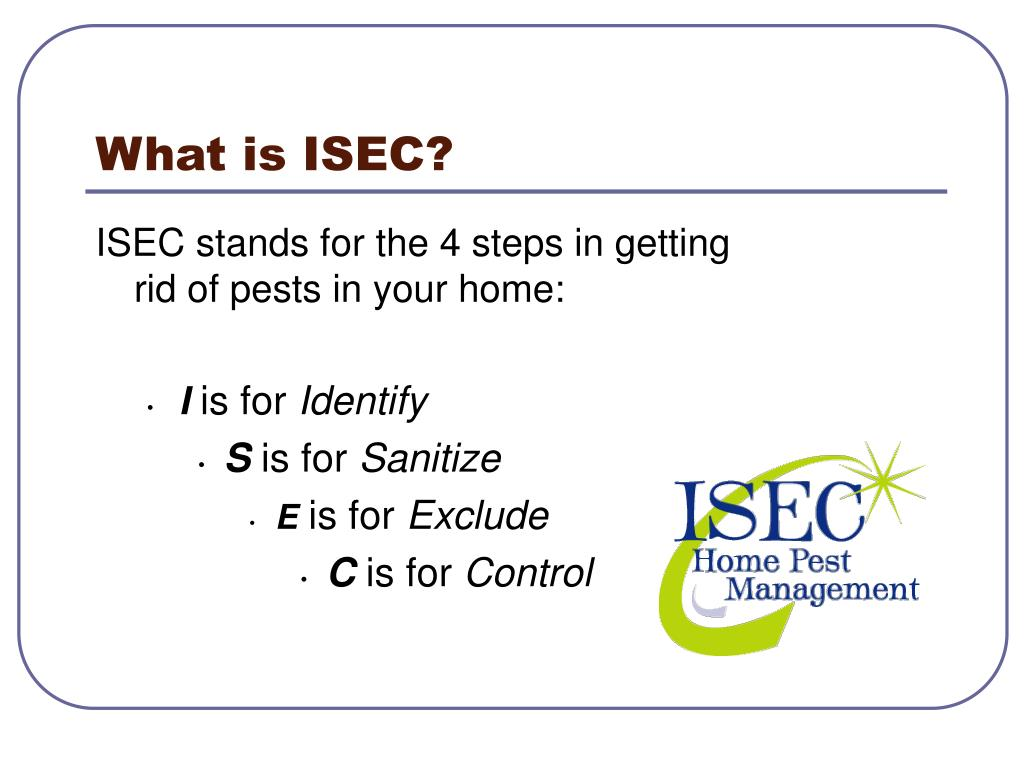 What is ISEC?