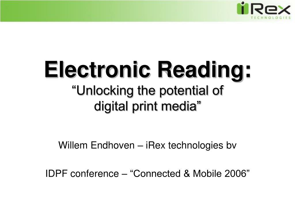 Electronic Reading: