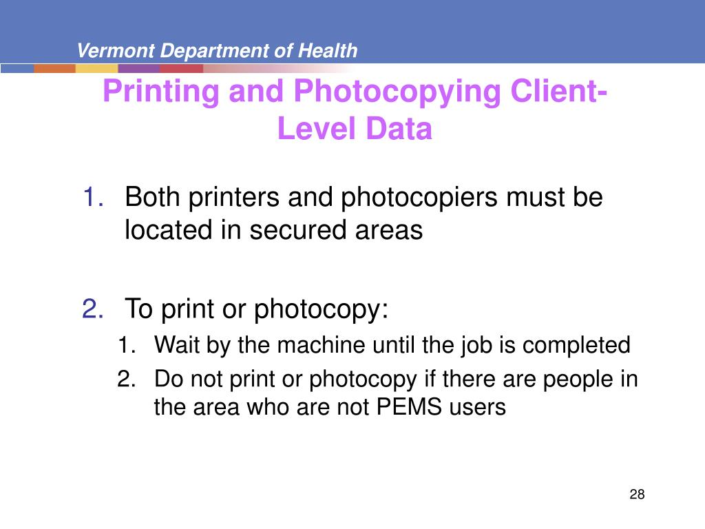 Printing and Photocopying Client-Level Data