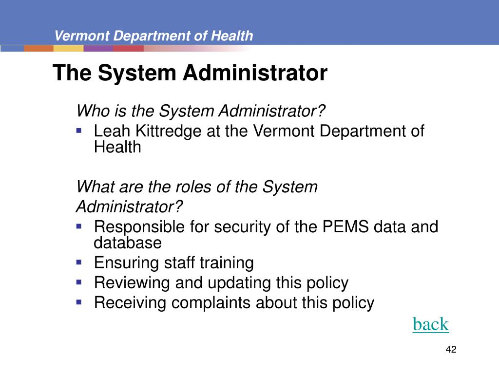 The System Administrator