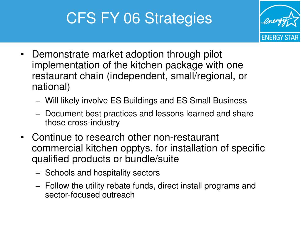 CFS FY 06 Strategies