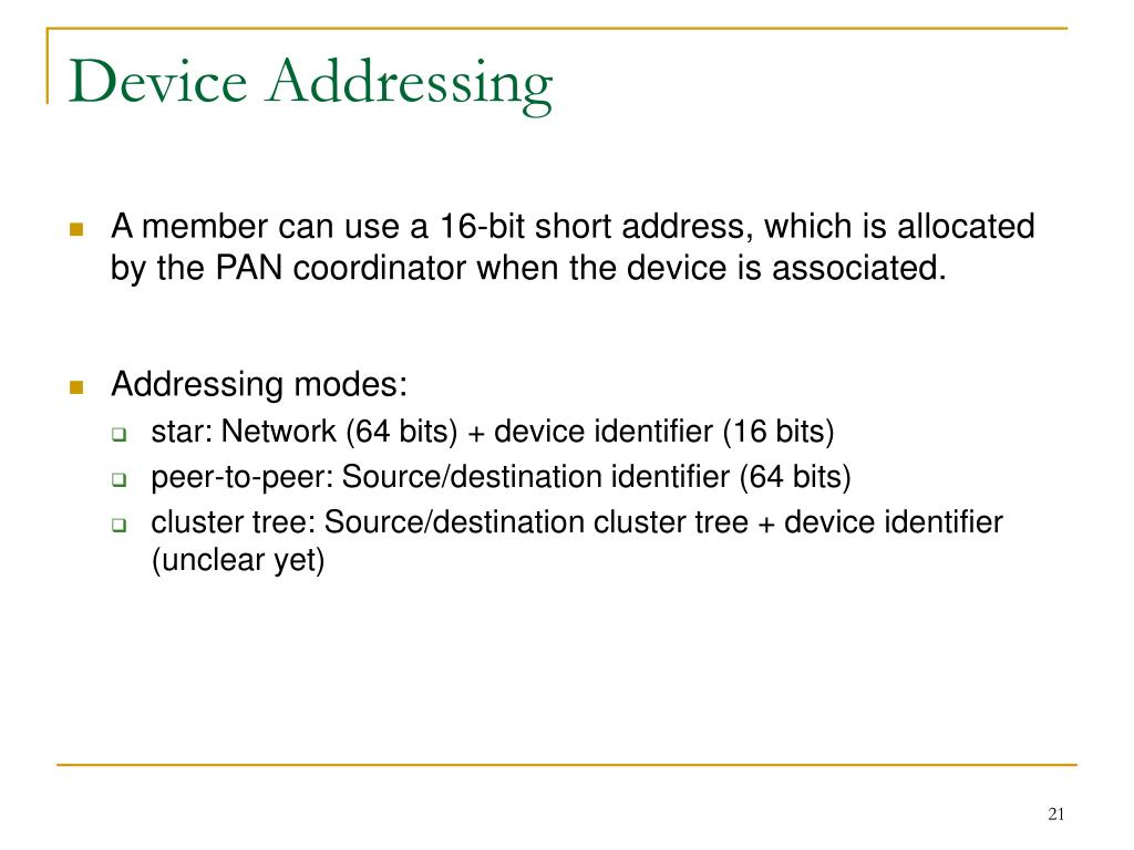 Device Addressing