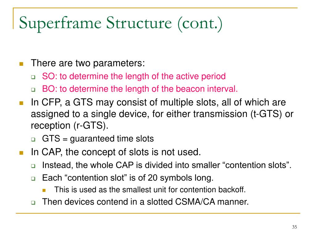 Superframe Structure (cont.)