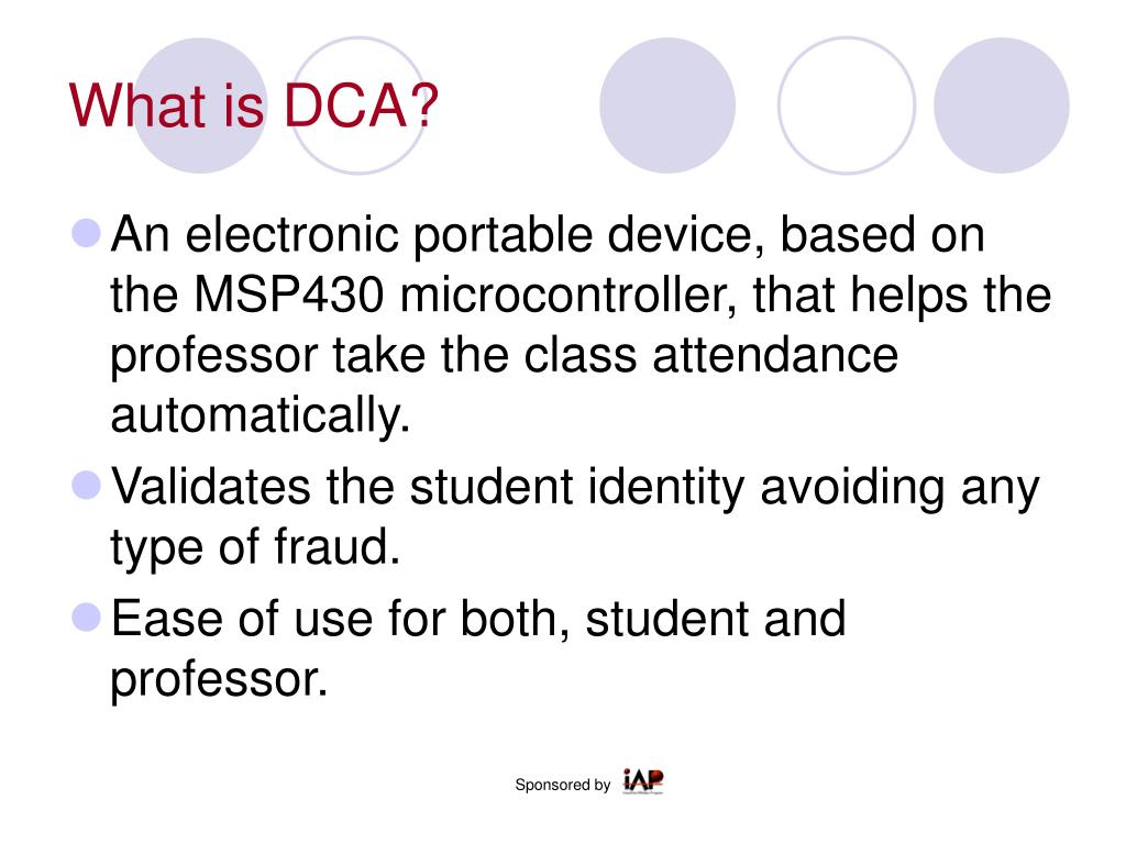 What is DCA?