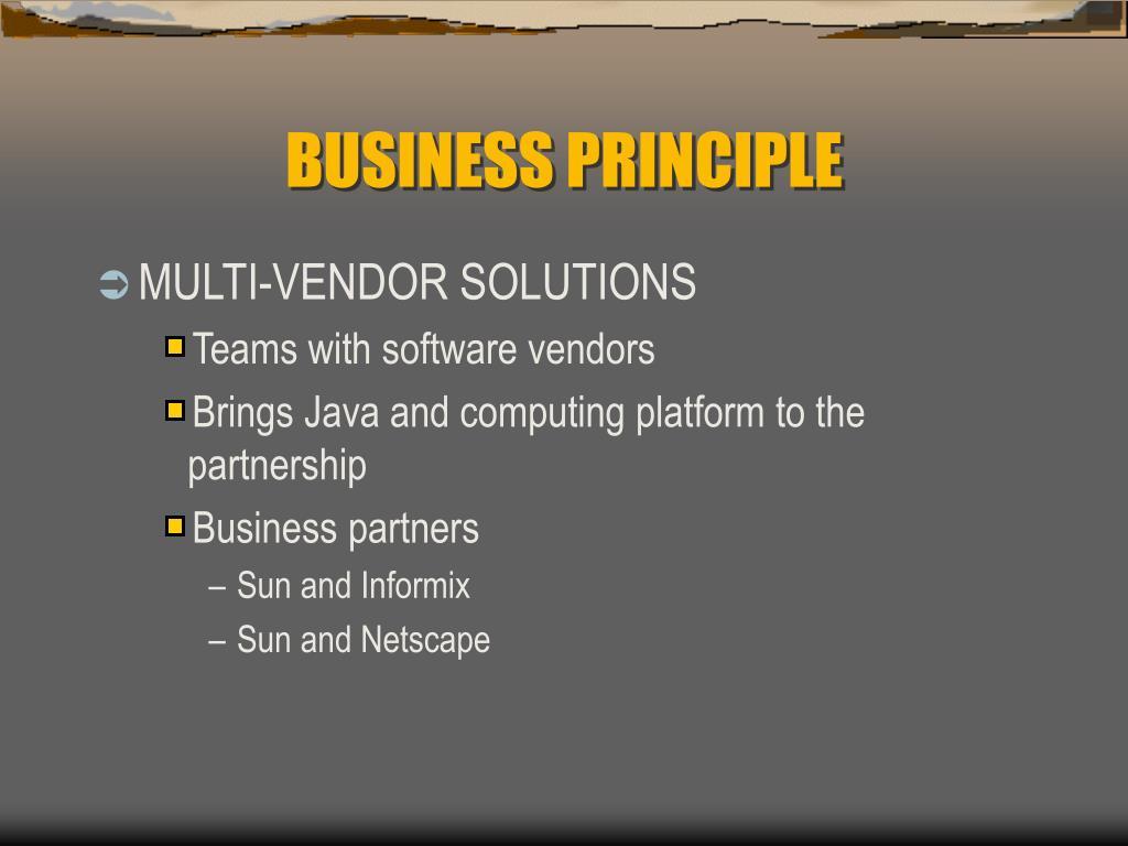 BUSINESS PRINCIPLE