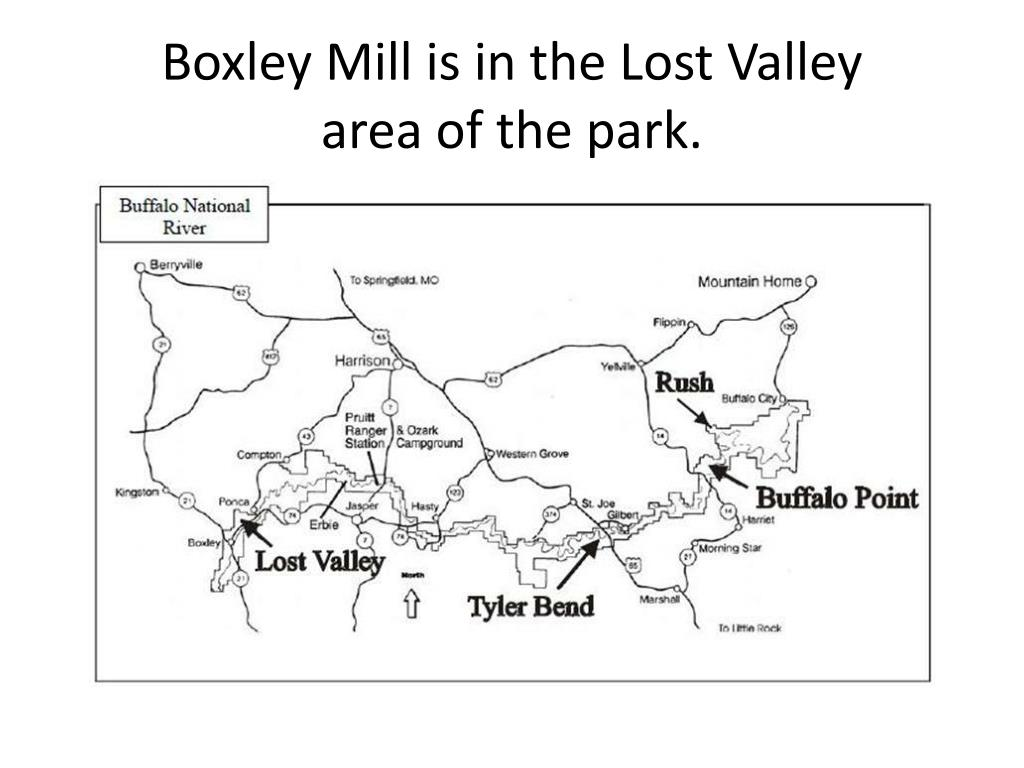 Boxley Mill is in the Lost Valley