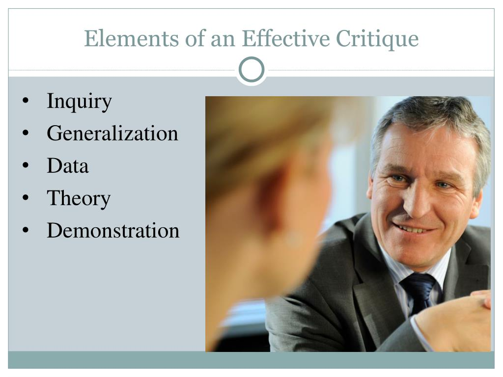 Elements of an Effective Critique