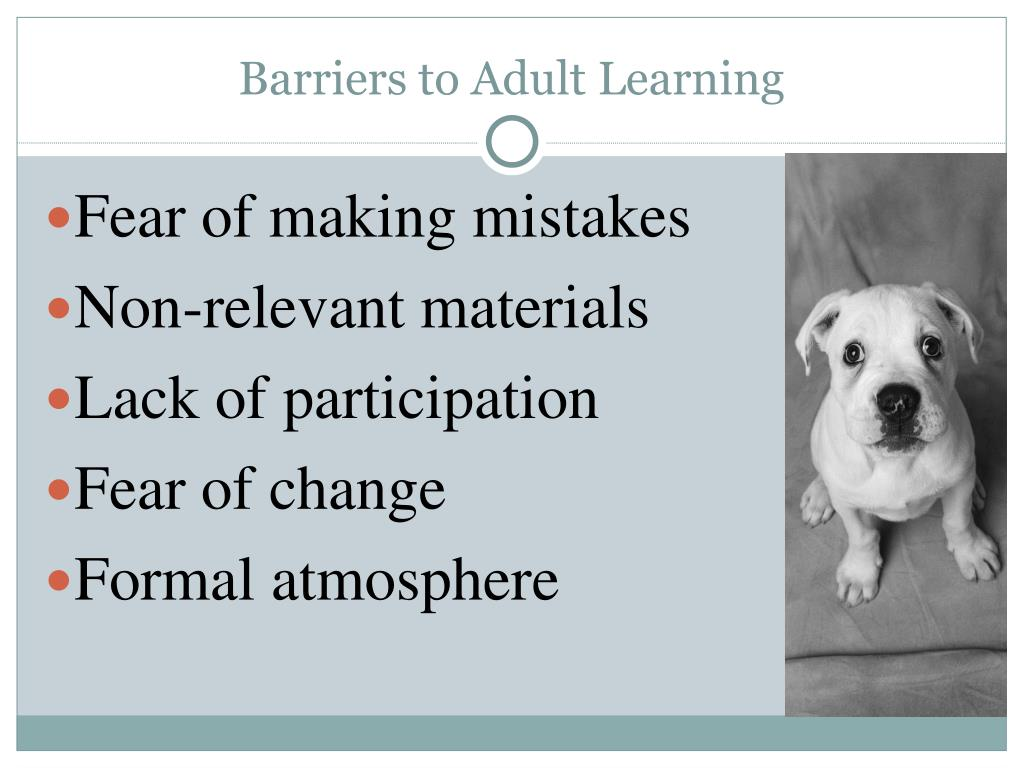 Barriers to Adult Learning