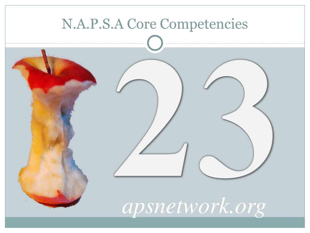 N.A.P.S.A Core Competencies