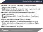 zigbee architecture objectives
