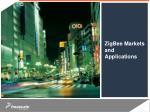 zigbee markets and applications