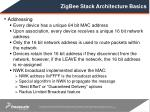 zigbee stack architecture basics