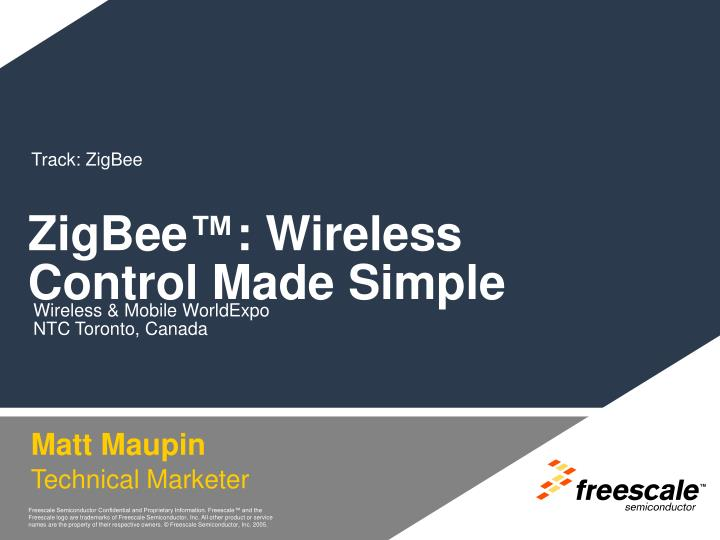 Zigbee wireless control made simple