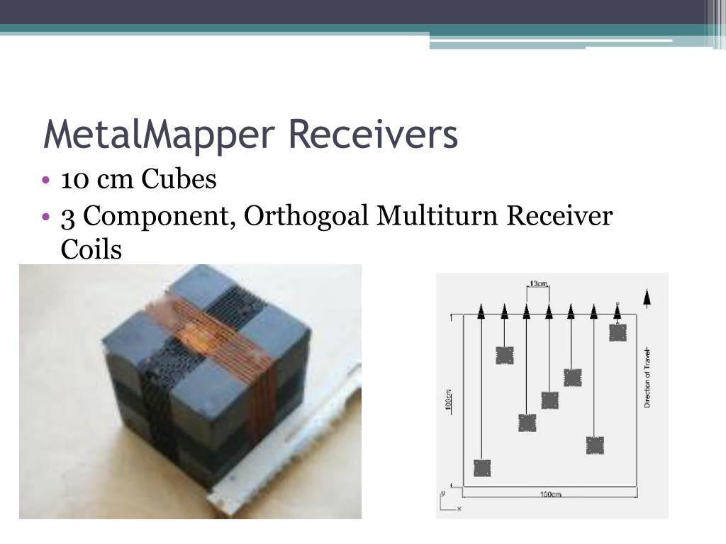 MetalMapper Receivers