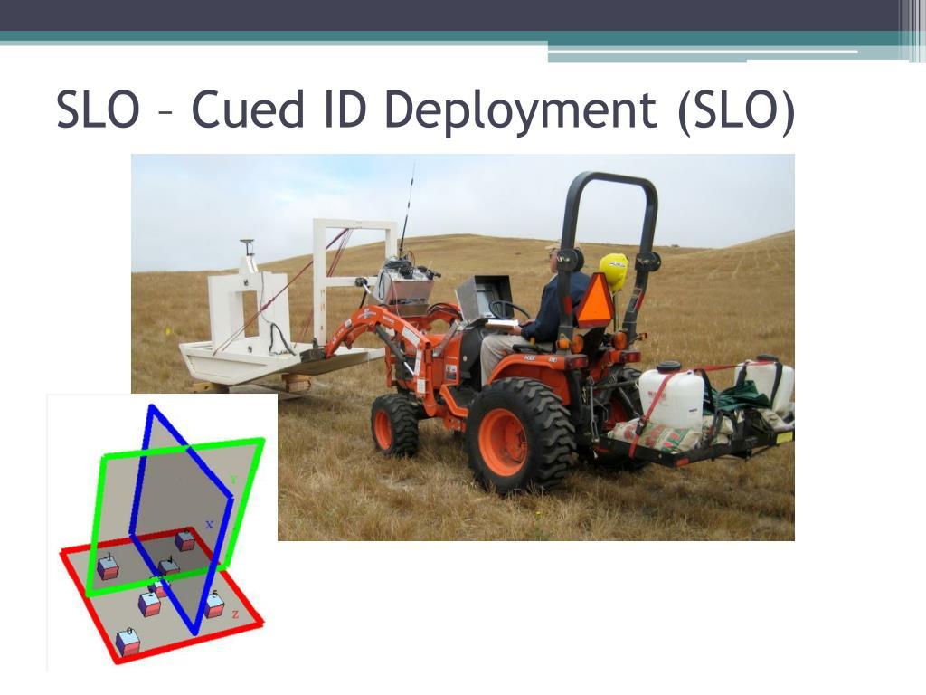 SLO – Cued ID Deployment (SLO)
