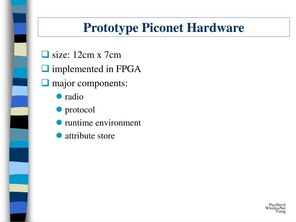 Prototype Piconet Hardware