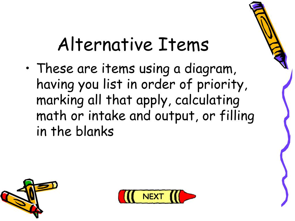 Alternative Items