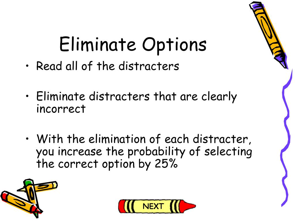 Eliminate Options