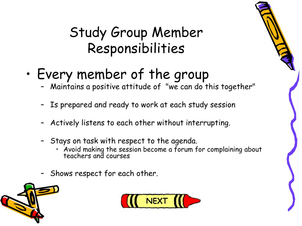 Study Group Member Responsibilities
