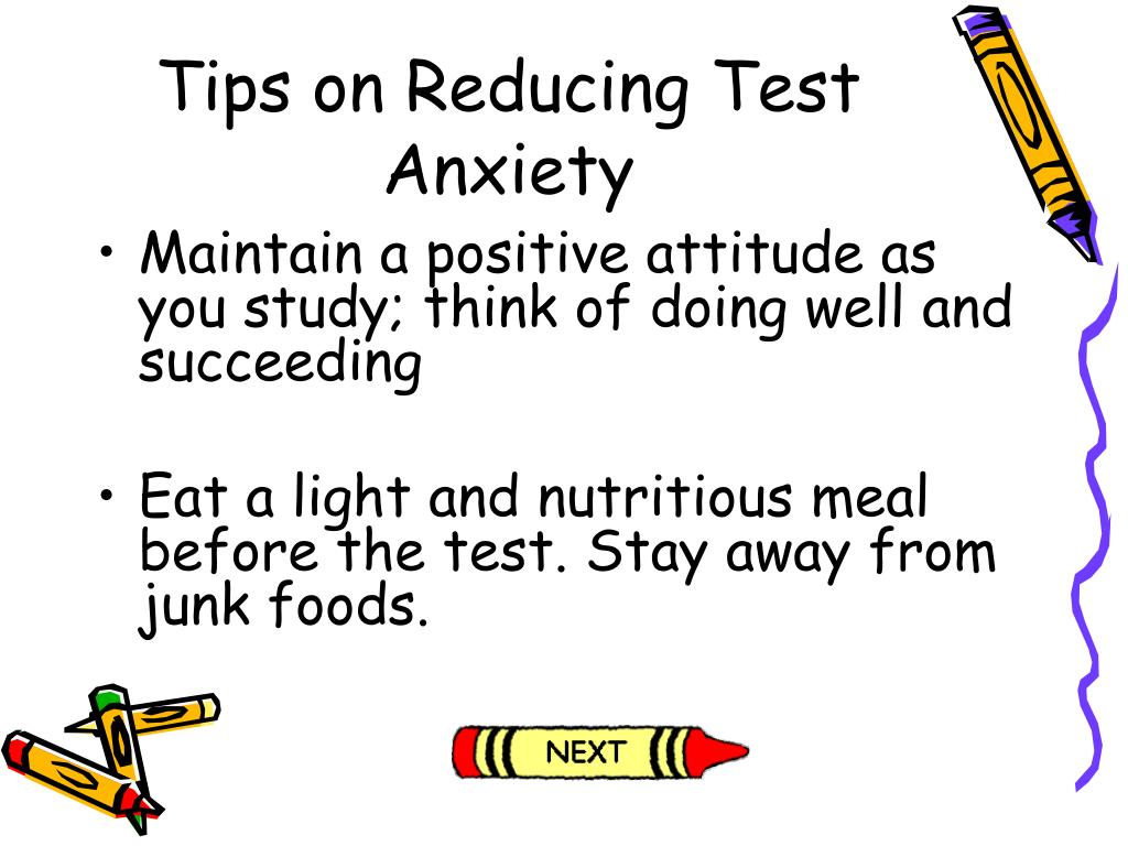Tips on Reducing Test Anxiety