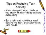 tips on reducing test anxiety112