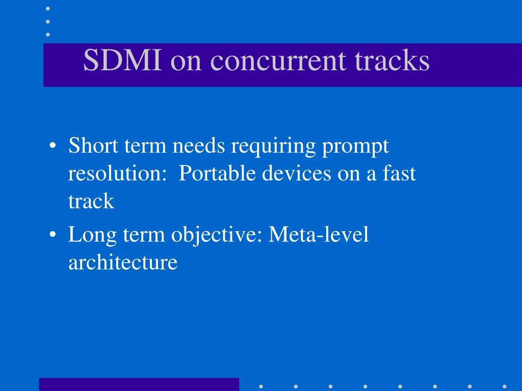 SDMI on concurrent tracks