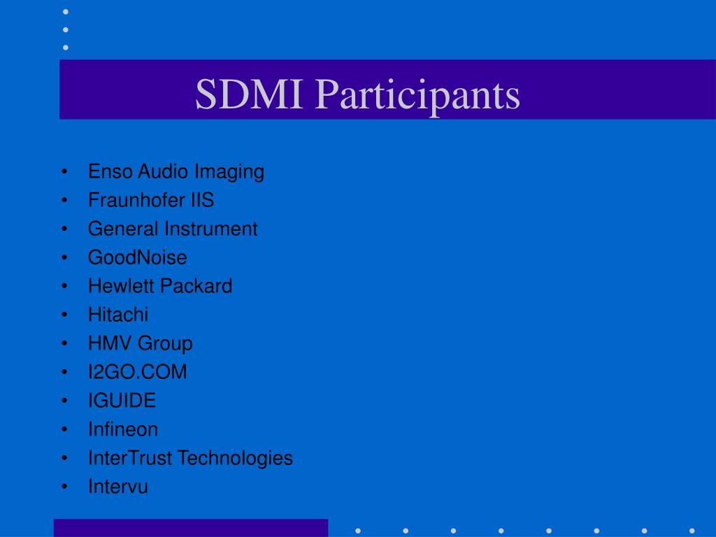SDMI Participants
