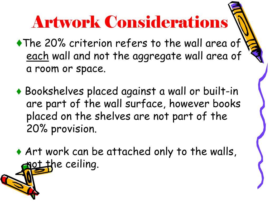 Artwork Considerations